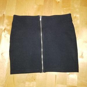 NWOT Zip Up Mini Skirt
